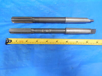 .624 6 Flute 1116 8 Flute Reamers With Morse Taper 2 Shanks Mt2 .6240 .6875