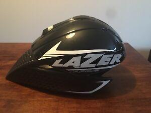 Laser aero bike helmet