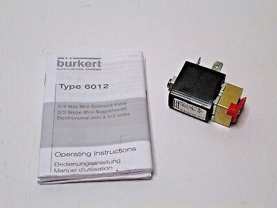 Burkert 6012 32 Way Mini Solenoid Valve 110 Volt 50hz 4w Free Shipping