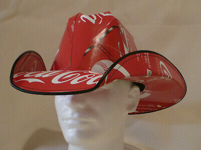 Cowboy Hat made from recycled Coca Cola Coke soda boxes