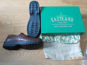BRAND NEW BROWN LEATHER  SLIP- ON EASTLAND BRAND  SHOES