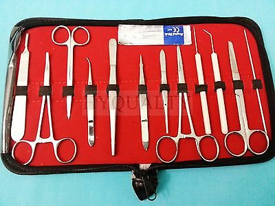 12 Pc Student Dissecting Dissection Medical Lab Instruments Kit Set5 Blades 10