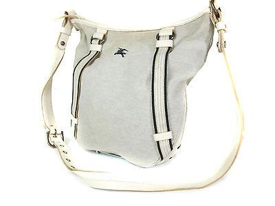 Auth BURBERRY LONDON BLUE LABEL Canvas Gray Cross-Body Shoulder Bag ()