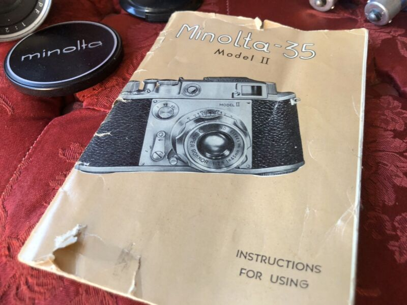 Minolta-35 Model II Instruction Manual ORIGINAL