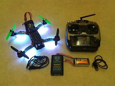 LHI 250 RC Racing Drone Set Up Radiolink AT9 TX 2300Kv Motors Battery Quadcopter