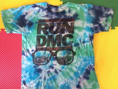 RUN DMC Brand 2010 Glasses NYC Scene Tye Dye Shirt Men