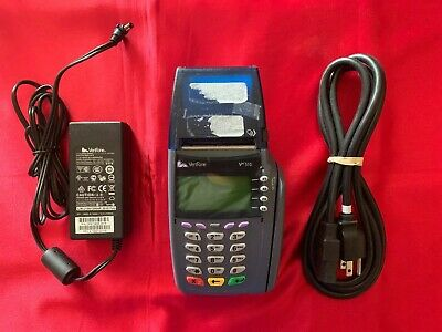 Verifone Vx 510 Credit Card Terminal Reader With Power Supply Used