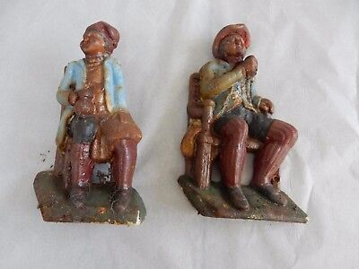 robert burns related cast iron figures  VICTORIAN TAM O SHANTER & SOUTAR JOHNNY