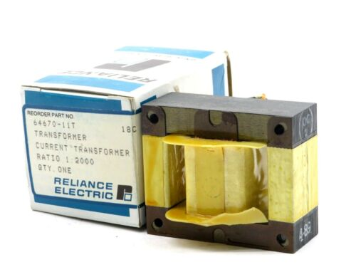 NEW RELIANCE ELECTRIC 64670-11T TRANSFORMER RATIO 1 : 2000 6467011T