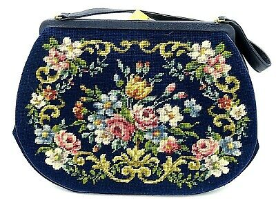 1940s Handbags and Purses History Vintage Koro Creation 1940s 1950s Hand Stitched Women's Purse $60.00 AT vintagedancer.com