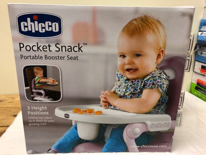 New Chicco Pocket Snack Booster Seat, Plum