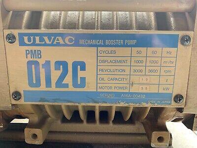 Ulvac Pmb 012cs Co2 Laser Mechanical Booster Pump