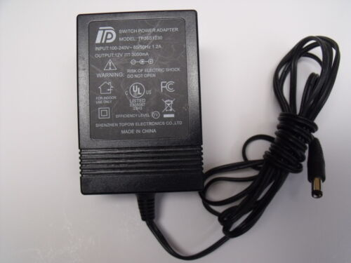 12V 3A AC Adapter Charger for TP Model TP36S1230 Craig TV Set Power Supply Cord