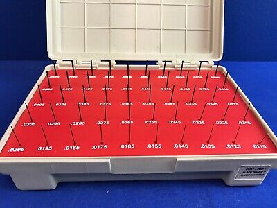 Vermont 901400200 Pin Gauge Set .0115-.0605- Blackguard