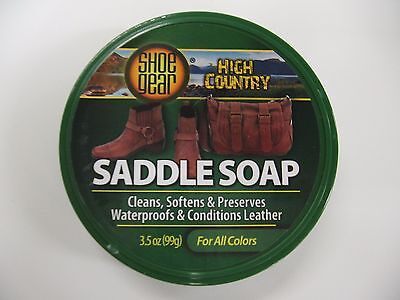 Saddle Soap- Leather Cleaner-Leather Softener 3.5oz Container Free Ship