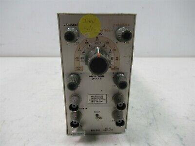 Tektronix Pg 501 Pulse Generator Plug-in Module For Tm 500 Power Supply Chassis