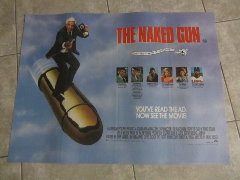 THE NAKED GUN movie poster LESLIE NIELSEN poster