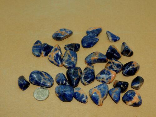 Sunset Sodalite Tumbled Stones 1/4 pound (16678)