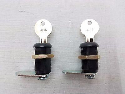 2x 30mm Cam Locks Keyed Alike For Mailbox Enclosure Cabinets Desks Drawers