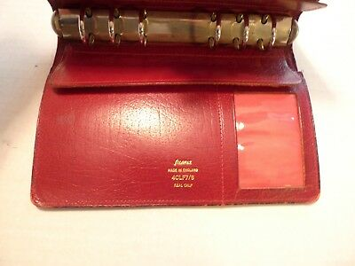 Filofax- Calf Leather Planner -vintage- Made In Uk- Model 4clf 78- Shabby Chic