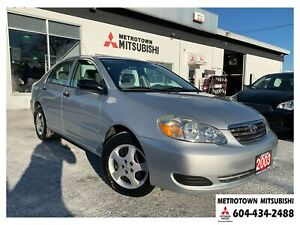 2005 Toyota Corolla CE; Local BC vehicle! Fully inspected!