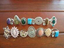 QUALITY STAMPED 925 SOLID STERLING SILVER GEMSTONE RINGS FOR SALE Thornlie Gosnells Area Preview
