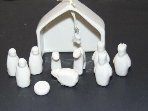 East of India Miniature Porcelain Nativity Set