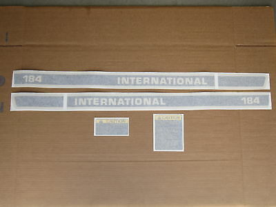 Vinyl Decal Set For Ih Decals International 184 Cub Lo-boy