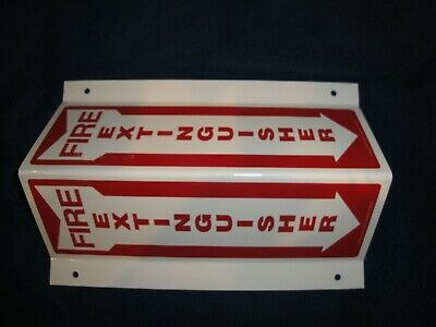 Lot Of 20 New 8 X 12 3-d Rigid Plastic Angle Fire Extinguisher Arrow Sign