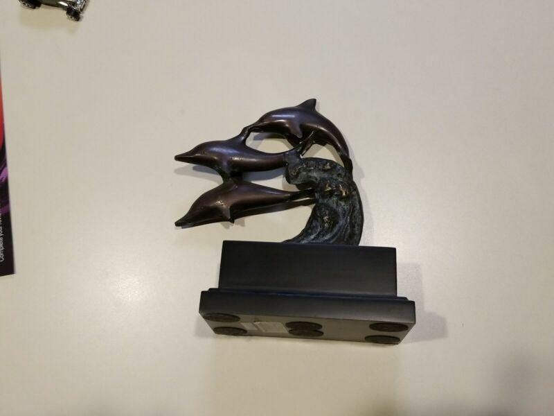 3 Dolphin Bronze  Statue