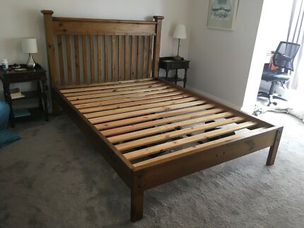 Timber bed frame - excellent condition