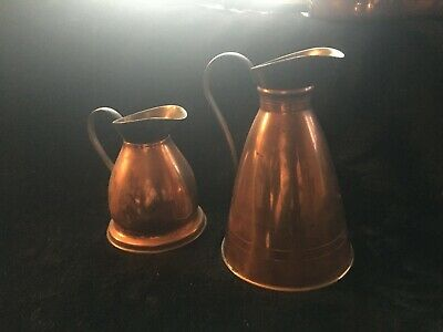 Pair Of Copper Brass Jugs