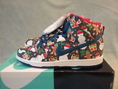 Nike SB Dunk High TRD QS Ugly Christmas Sweater 881758-446 Size 8.5
