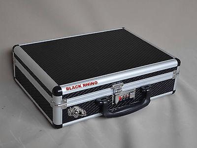 - Gun Case Pistol, Handgun Aluminum Framed Hard Case Combination Lock Safe Storage