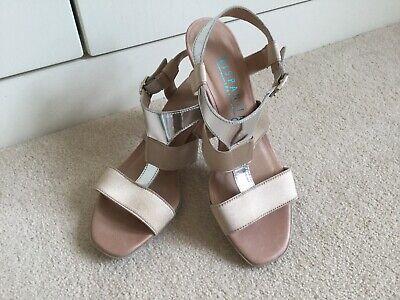 Hispanitas Ladies Beige/Silver Sandals Brand New Size 38