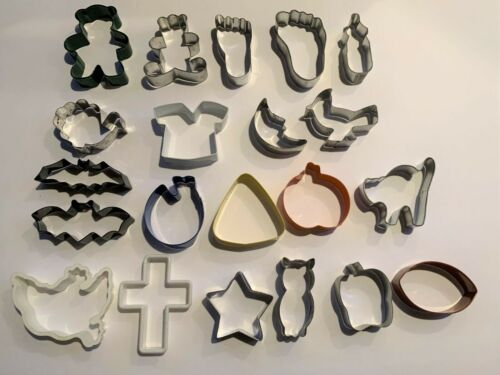 LARGE Metal Cookie Cutters ~ Lot of 21 ~ Nice Variety ~  Buy it Now