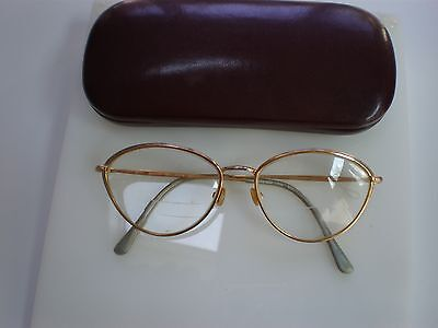 VINTAGE TURA CAT EYE EYEGLASSES FRAME, MODEL 746 GOLD TONE, MADE IN JAPAN