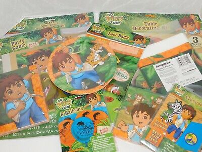 Go Diego Go Birthday Party Plates Napkins Table Cover Table & Wall Decorations](Diego Birthday Party)