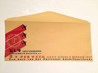 KLM AMSTERDAM - BATAVIA 3 X WEEKLEY OCTOBER 1937 ENVELOPE K.L.M.