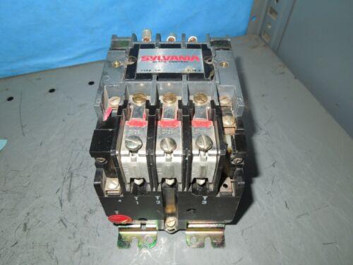 Sylvania Clark T13U032 NEMA Size 2 Starter 45A 3ph 600V 120V Coil Used