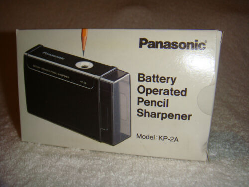 Vintage Panasonic KP-2A Battery Operated Pencil Sharpener w/BOX & INSTRUCTIONS