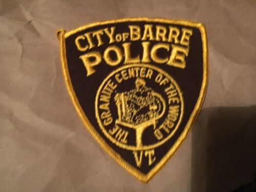BARRE VERMONT POLICE patch NB