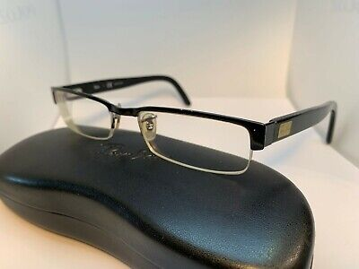 Authentic Ray-Ban Half rimless Eyeglasses RB 6182 2502 51-17-140 Black
