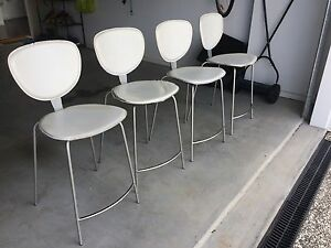 Metal and white bar stools Nundah Brisbane North East Preview