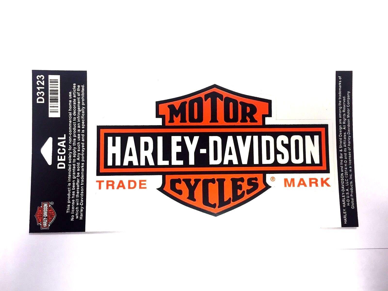 Genuine Harley Davidson Round Bar /& Shield Black /& Orange Decal Sticker DC312642