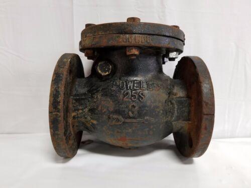 "Powell 3"" Swing Check Valve IBBM, 125#, Flanged Figure 559 Iron"