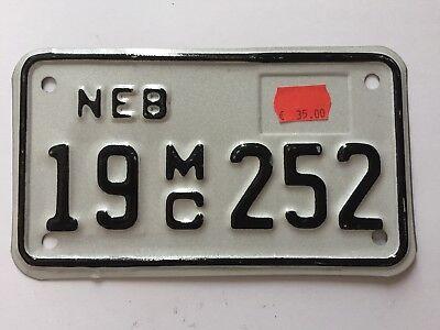 US License Plate Motorcycle - US Nummernschild Nebraska - Biker Motorrad - 19252