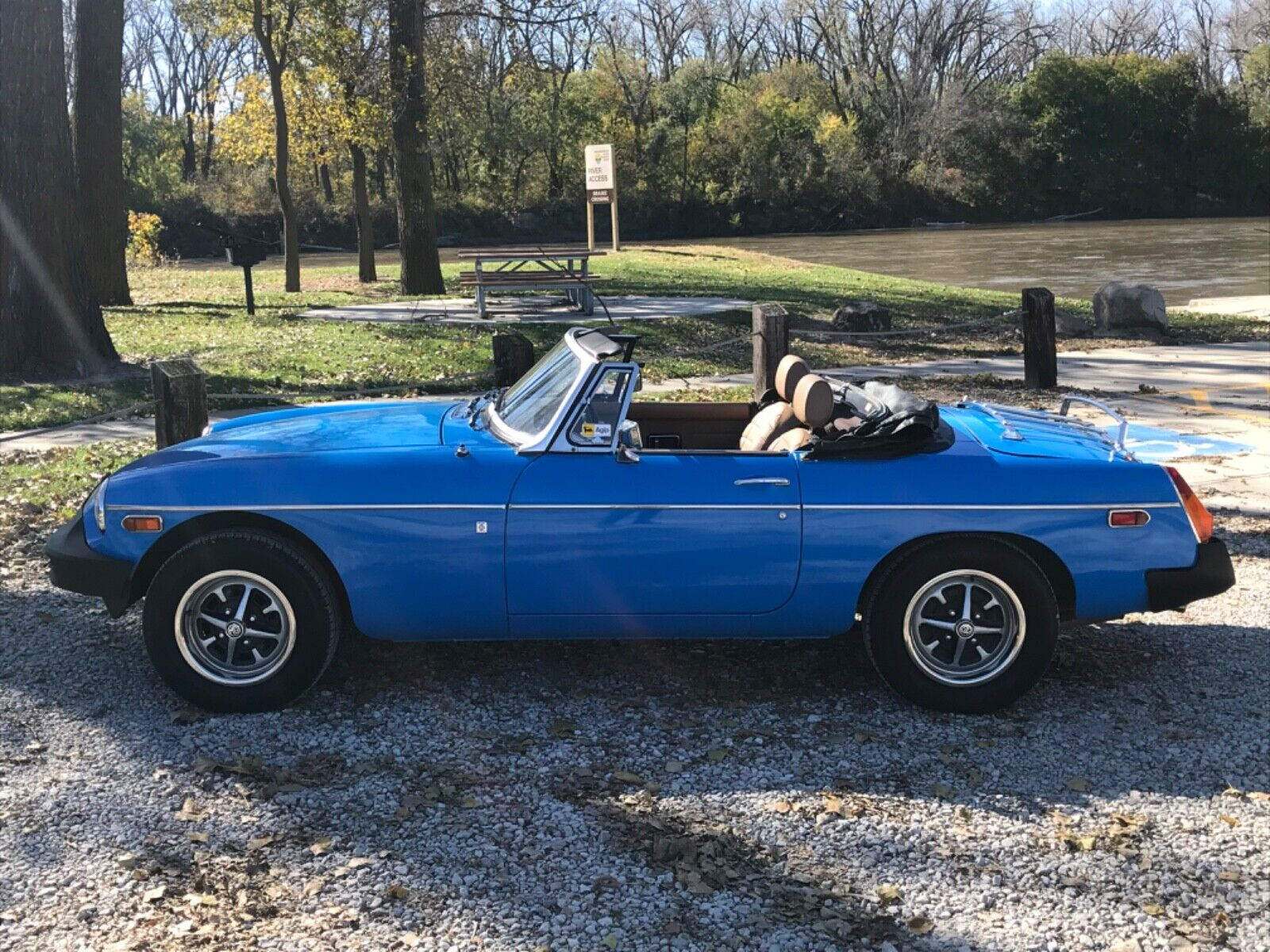 1979 MG B  59k Miles Blue Convertible 1.8L I4 4-Speed Manual. Just serviced