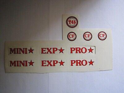 CURTIS BMX FRAME DECALS, N.O.S. RED b