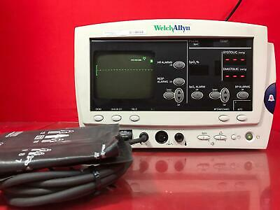 Welch Allyn 6200 Series Medical Patient Vital Signs Monitor System Sn 62222278